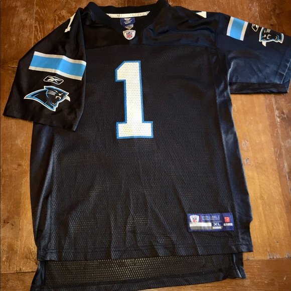 005d4076b Reebok Shirts & Tops | Nfl Carolina Panthers Kids Jersey Nfl Cam ...